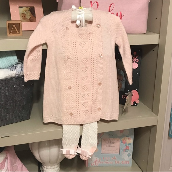 5c0d3b56931 Beautiful Baby Girl sweater and tights outfit